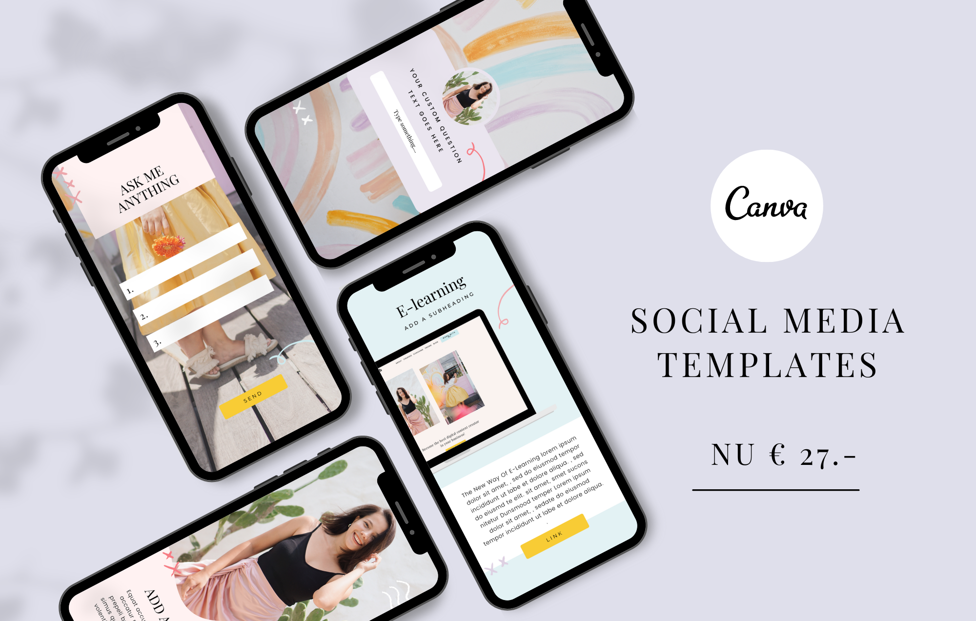 Mock-up Social Media templates